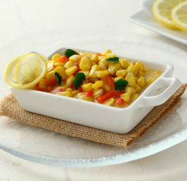 Sweetcorn sautéed in butter and lemon