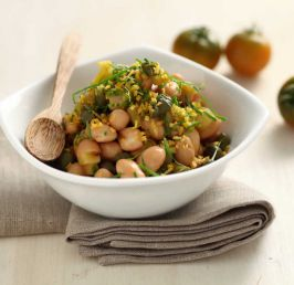 Borlotti beans in Gremolata with capers